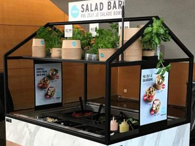 Salad bar in a restaurant along the motorway