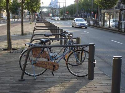 Street furniture on the Leien in Antwerp