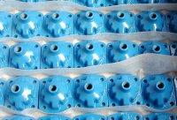 Plastificeren, Plastificatie, wervelsinteren- relatief dikke poriënvrije kunststoflaag